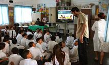 Presentación en Escuela Nº 165 de Pando